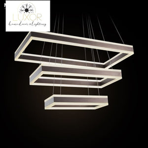 chandeliers Antini Modern Square Chandelier - Luxor Home Decor & Lighting