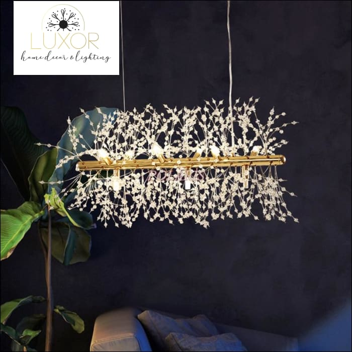 chandeliers Linear Crystal Chandelier - Luxor Home Decor & Lighting