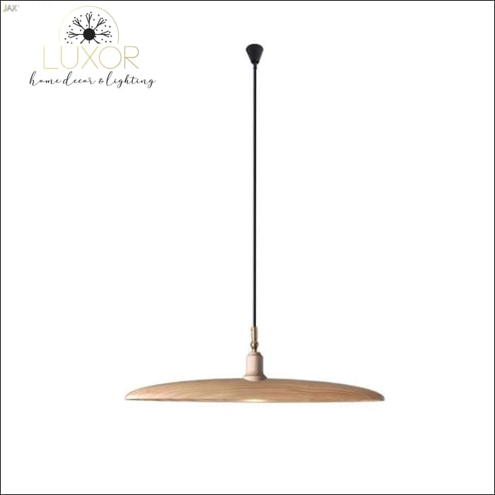 Minimalist Semicircular Solid Wood Pendant Light - A - chandelier