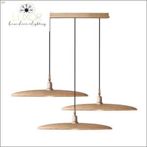 Minimalist Semicircular Solid Wood Pendant Light - C - chandelier