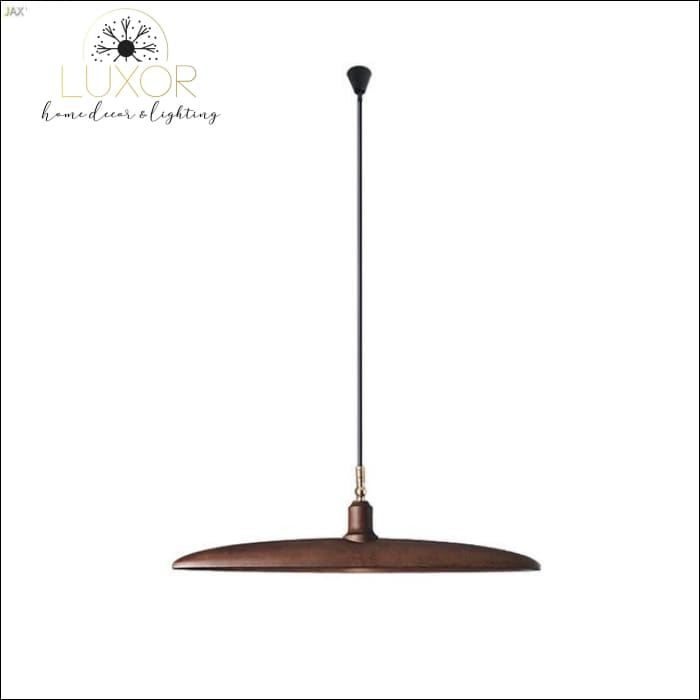 Minimalist Semicircular Solid Wood Pendant Light - D - chandelier