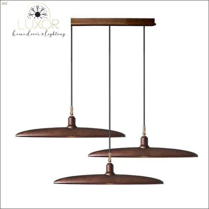 Minimalist Semicircular Solid Wood Pendant Light - F - chandelier