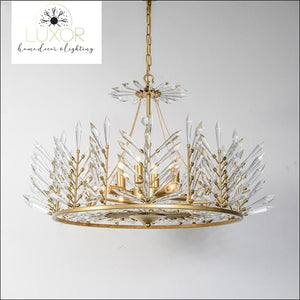 chandeliers Crystal Rinkle Chandelier - Luxor Home Decor & Lighting