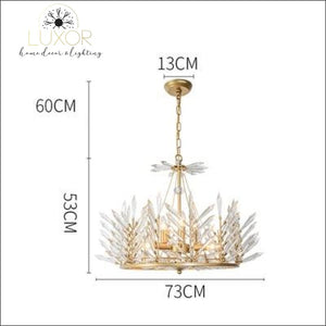 Crystal Rinkle Chandelier - Dia73xH53cm gold / >7 / 21-30W L Cold White - chandeliers