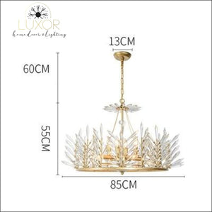 Crystal Rinkle Chandelier - Dia85xH55cm gold / >7 / 21-30W L Warm White - chandeliers