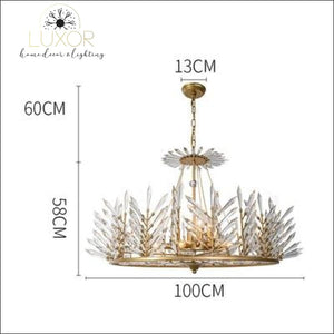 Crystal Rinkle Chandelier - Dia100xH58cm gold / >7 / 21-30W L Cold White - chandeliers