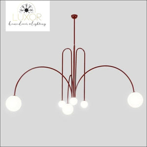 Red Art Decor Angler Lamp - Red / Small - D1000mm / warm white - chandeliers