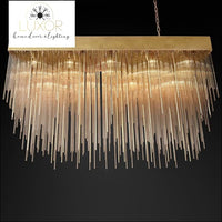 chandeliers Golden Crystal Cascade Chandelier - Luxor Home Decor & Lighting