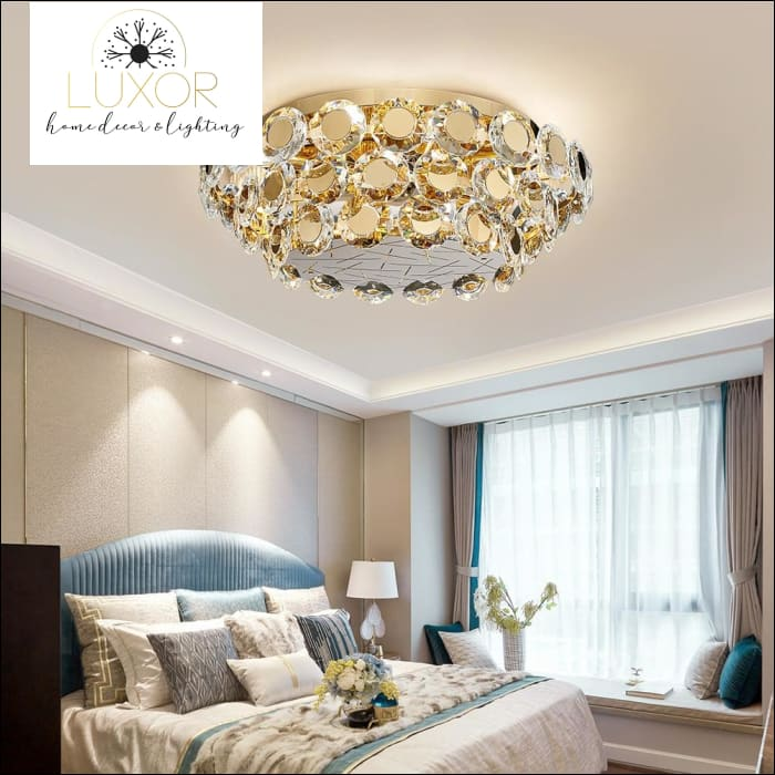 ceiling light Kari Gold Ceiling Light - Luxor Home Decor & Lighting