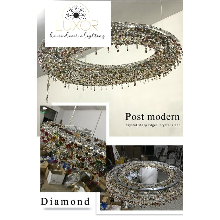 chandeliers Sinisi Colored Crystal Chandelier - Luxor Home Decor & Lighting