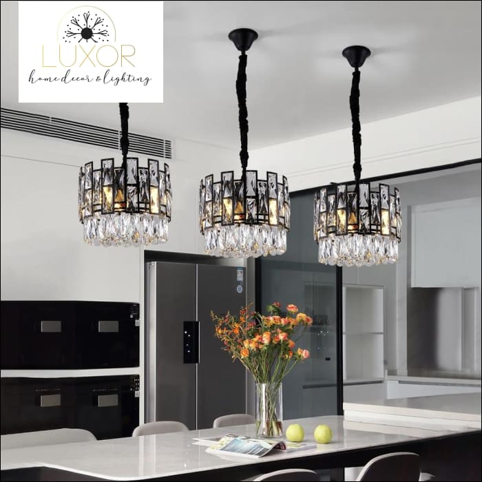 Joanise Crystal Black Pendant - pendant lighting