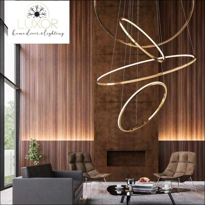 chandeliers Hoopla LED Modern Chandelier - Luxor Home Decor & Lighting