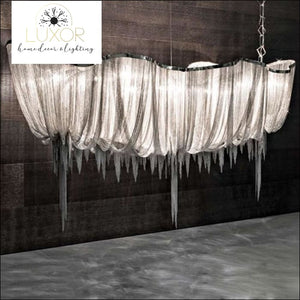 chandeliers Teza Royal Luxury Linear Suspension Chandelier. - Luxor Home Decor & Lighting