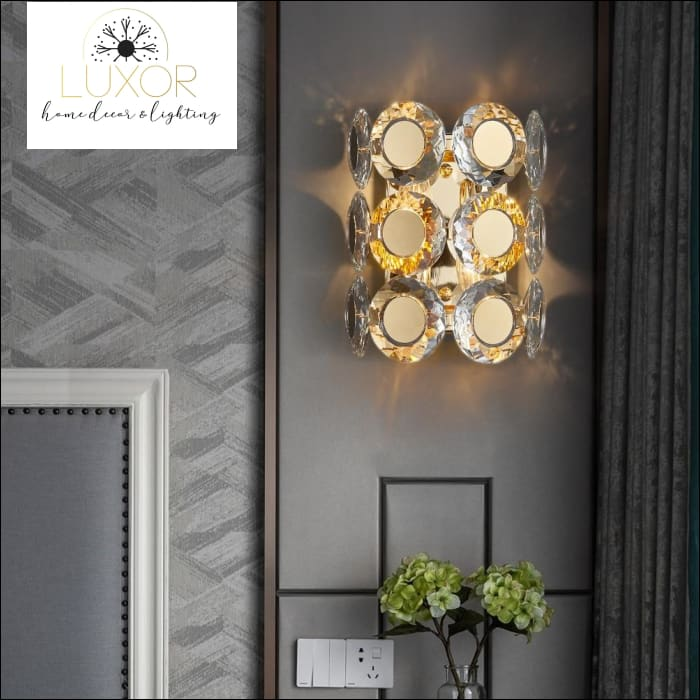 wall lighting Jameston Gold Luxury Crystal Sconce - Luxor Home Decor & Lighting