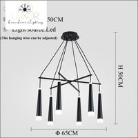 Simone Suspended Chandelier - 6 Heads / Cold White - chandeliers