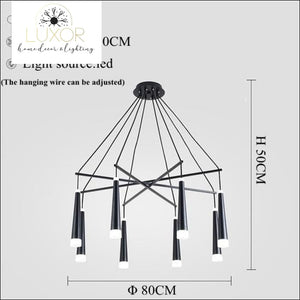 Simone Suspended Chandelier - 8 Heads / Cold White - chandeliers