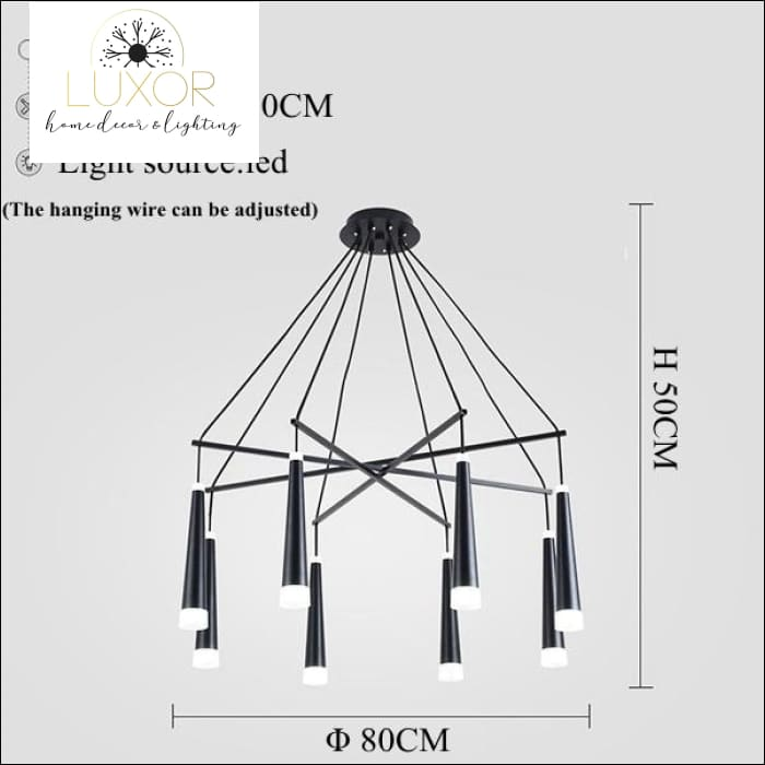 chandeliers Simone Suspended Chandelier - Luxor Home Decor & Lighting
