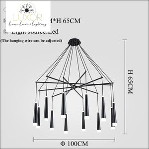 Simone Suspended Chandelier - 12 Heads / Cold White - chandeliers