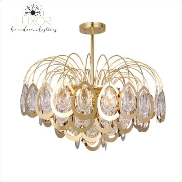 Peacock Glass Chandelier - chandeliers