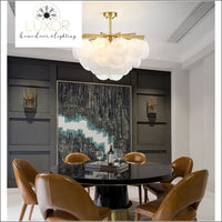chandeliers Leviz Frosted Glass Chandelier - Luxor Home Decor & Lighting