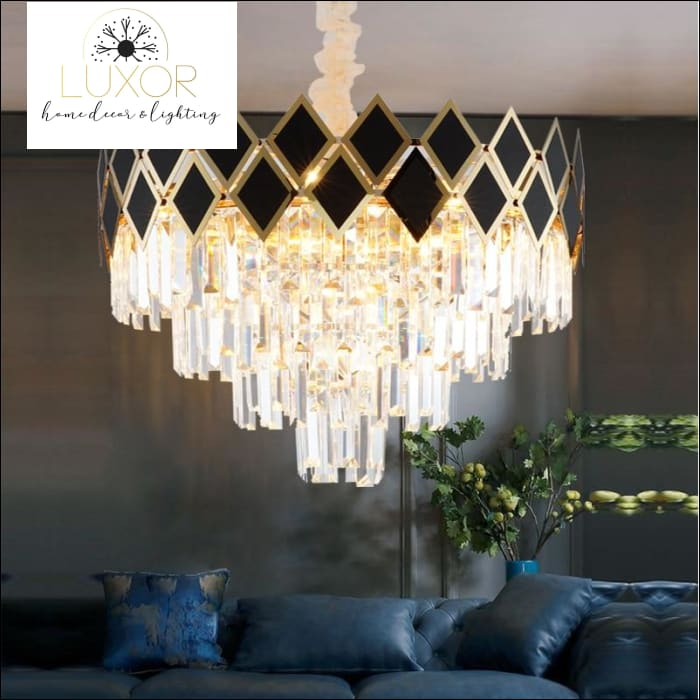 chandeliers Quinn Crystal Chandelier - Luxor Home Decor & Lighting