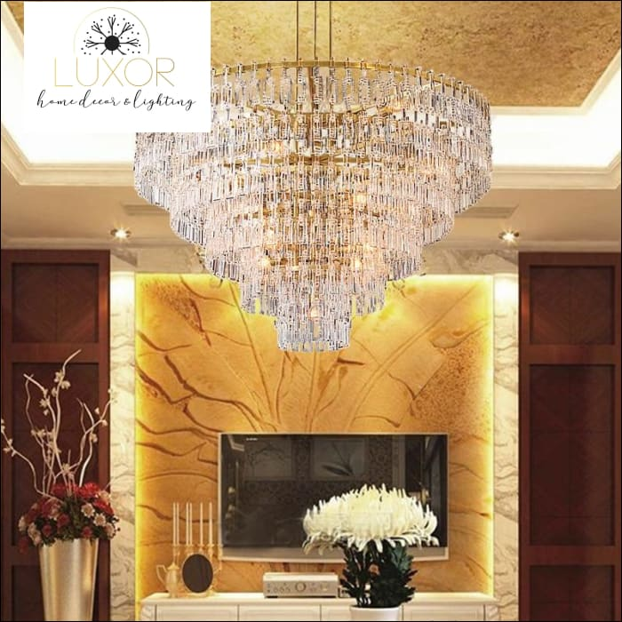 chandeliers Palatzi Crystal Round Chandelier - Luxor Home Decor & Lighting