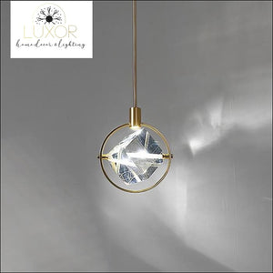 Gold Star Hanging Pendant - Style A - Full Circle - pendant lighting