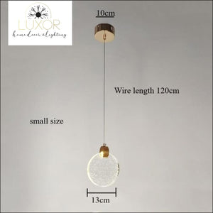 Pendant lighting Sunburst Glass Pendant - Luxor Home Decor & Lighting