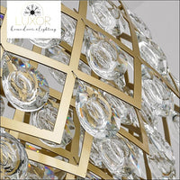 chandeliers Stalis Gold Crystal Chandelier - Luxor Home Decor & Lighting