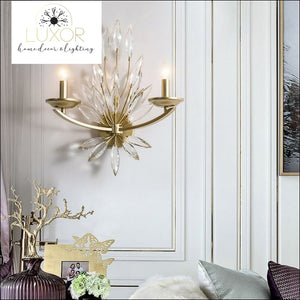 wall lighting Jaster Crystal Leaf Chandelier - Luxor Home Decor & Lighting