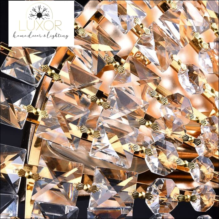 wall lighting Crystal Fan Sconce - Luxor Home Decor & Lighting