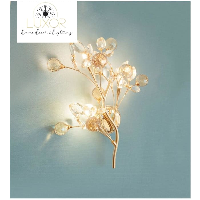 Ann Crystal Leaf Sconce - wall lighting