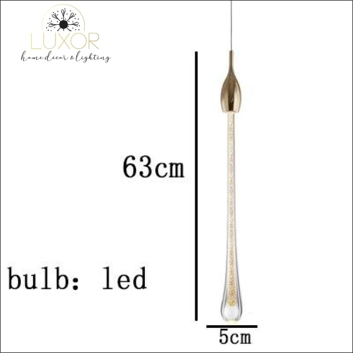 Henzel Teardrop Pendant - 1 Head (Dia5cmx63cm) - pendant lighting