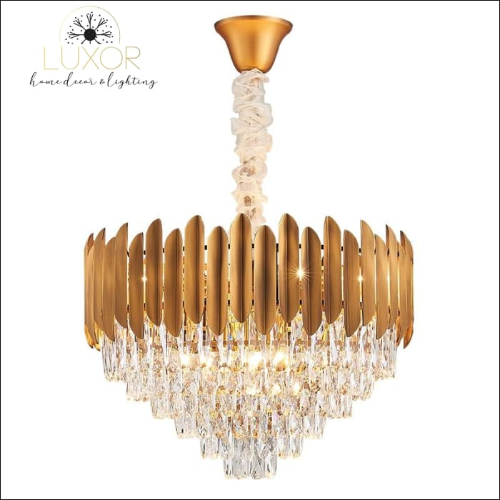 chandeliers Marli Crystal Gold Chandelier - Luxor Home Decor & Lighting