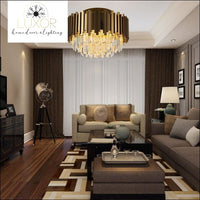 ceiling lights Alveli Copper Crystal Ceiling Lamp - Luxor Home Decor & Lighting