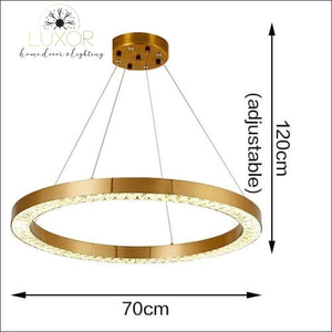 pendant lighting Astory Circular Diamond Pendant - Luxor Home Decor & Lighting