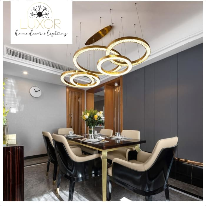 Astory Circular Diamond Pendant - pendant lighting