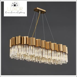 chandeliers Alice Rectangle Crystal Chandelier - Luxor Home Decor & Lighting