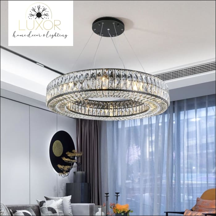 Analise Black Crystal Pendant - pendant lighting