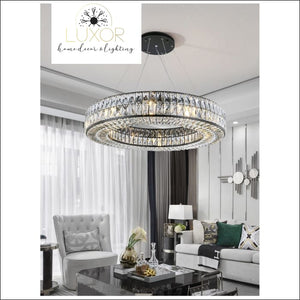 pendant lighting Analise Black Crystal Pendant - Luxor Home Decor & Lighting