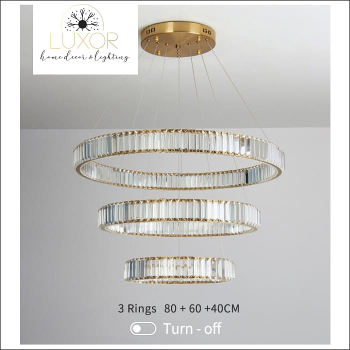 pendant lighting Roland Crystal Pendant - Luxor Home Decor & Lighting