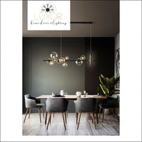 chandeliers Shoma Vertical Bubble Chandelier - Luxor Home Decor & Lighting