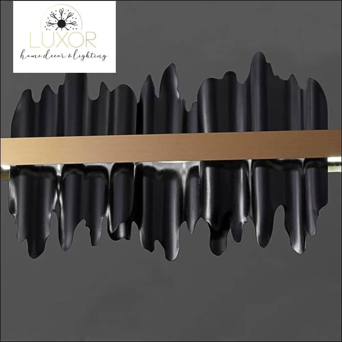 Excalibur Collection - Iceberg Chandelier - Black lampshade / Dia80XH18cm / Cool light 6000K - chandeliers