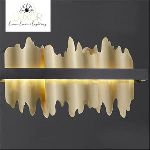 Excalibur Collection - Rectangle Chandelier - Gold lampshade / L120xW8xH18cm / Cool light 6000K - chandeliers