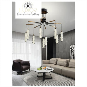 chandeliers Salini Modern Crystal Chandelier - Luxor Home Decor & Lighting
