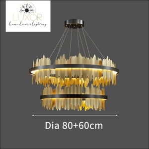 chandelier Excalibur Collection - Round Chandelier - Luxor Home Decor & Lighting