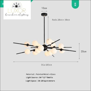 chandeliers Luminaire Nordic Chandelier - Luxor Home Decor & Lighting