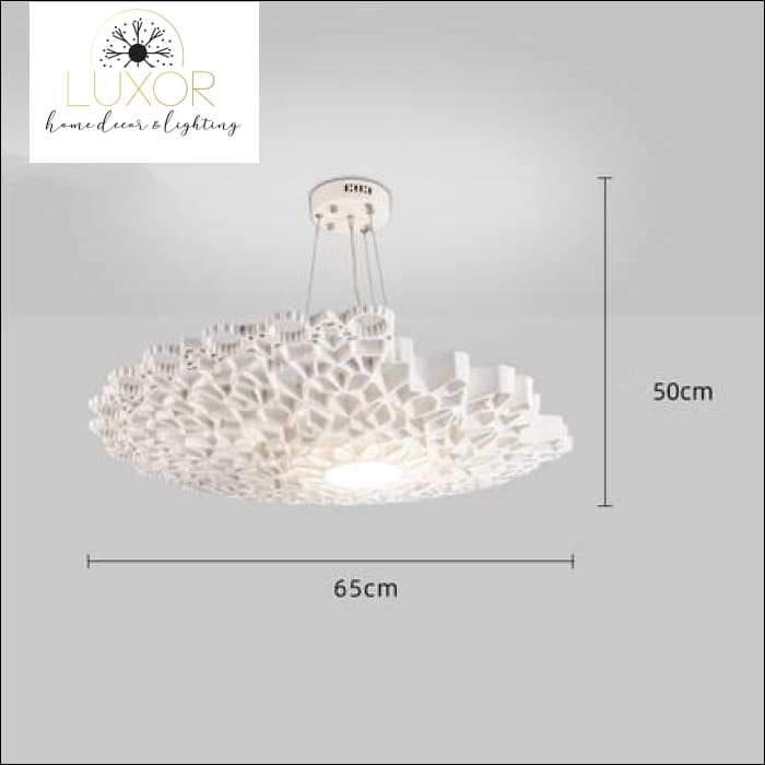 Post-modern White Resin Honeycomb Pendant - D65cm - chandeliers