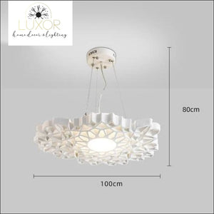 Post-modern White Resin Honeycomb Pendant - D100cm - chandeliers