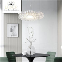 Post-modern White Resin Honeycomb Pendant - chandeliers